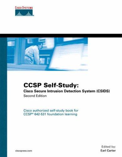 9781587051449: CCSP Self-Study: Cisco Secure Intrusion Detection System (CSIDS): CISCO Secure Intrusion Detection Systems (Certification Self-Study Series)