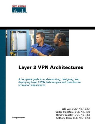 9781587051685: Layer 2 VPN Architectures: Pseudo Wire Emulation (Networking Technology)