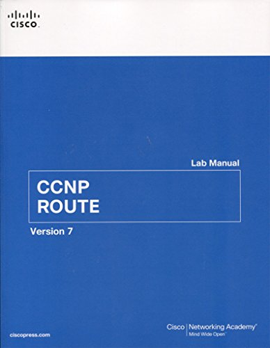 9781587134029  Ccnp Route Lab Manual  2nd Edition   Lab