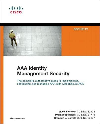 9781587141447: AAA Identity Management Security (Cisco Press Networking Technology)