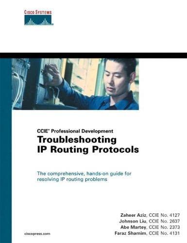 Troubleshooting IP Routing Protocols: Aziz, Zaheer