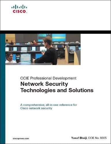 9781587144813: Network Security Technologies and Solutions (CCIE Professional Development Series)