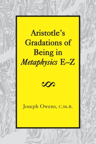 9781587310287: Aristotle's Gradations of Being In Metaphysics E-Z