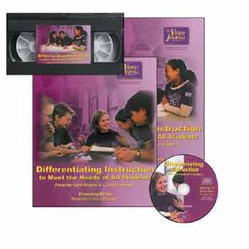 9781587401145: Differentiating Instruction to Meet the Needs of All Students-Elementary Edition Video Kit [VHS]