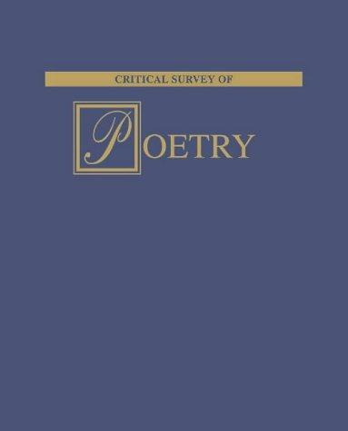 9781587650710: Critical Survey of Poetry ( 8 Vol. Set )