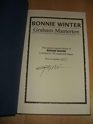 Bonnie Winter (Cemetery Dance Novella Series #10): Masterton, Graham