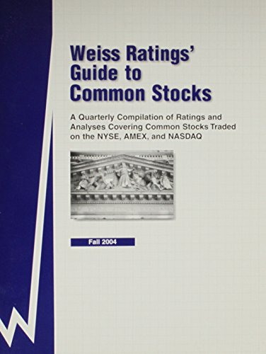 9781587731631: A Quarterly Compilation of Ratings and Analyses Covering Common Stocks Traded on the NYSE, AMEX and NASDAQ (Weiss Ratings' Guide to Common Stock) (Street.com Ratings Guide to Common Stocks)