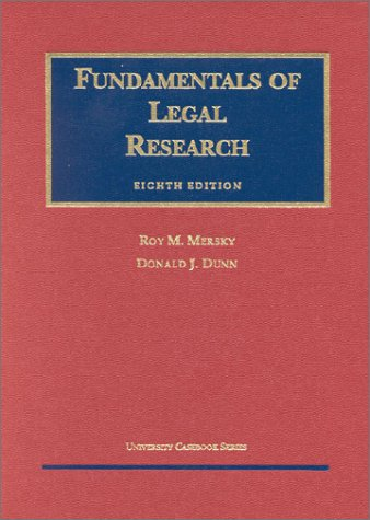 9781587780646: Fundamentals of Legal Research (University Textbook Series)