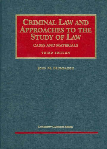 Criminal Law and Approaches to the Study of Law