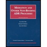 9781587780905: Mediation and Other Non Binding Adr Processes (University Casebook)
