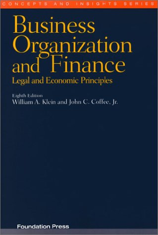 9781587783364: Business Organization and Finance (Concepts & Insights)