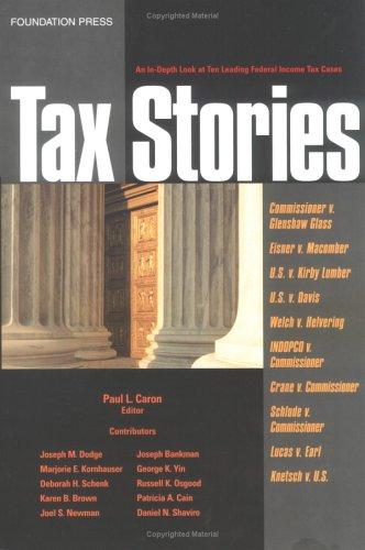 9781587784033: Tax Stories (Supplement)