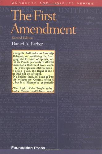 9781587784187: The First Amendment (Concepts & Insights)