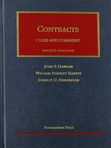 Contracts : Cases and Comment: William Burnett Harvey;