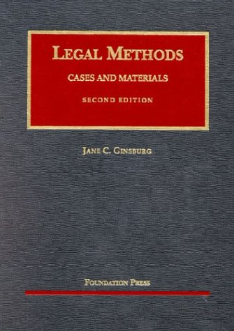 9781587785191: Legal Methods: Cases and Materials (University Casebook Series)
