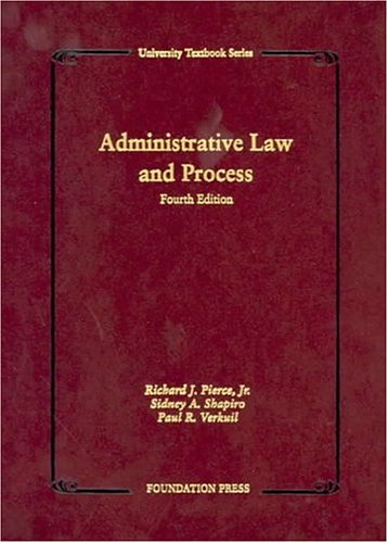 9781587785290: Administrative Law and Process (University Textbook Series)