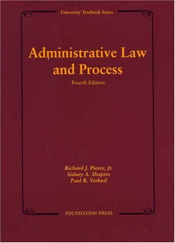 9781587785306: Administrative Law and Process (University Textbook)