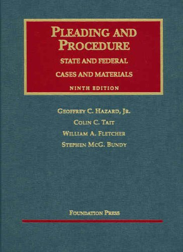 9781587785351: Pleading and Procedure: State and Federal Cases and Materials, Ninth Edition