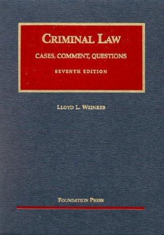 9781587785405: Criminal Law (University Casebook Series)