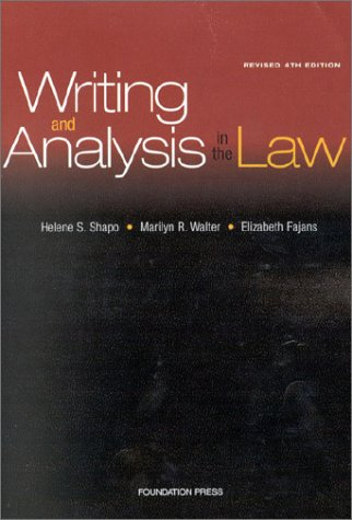 9781587785412: Writing and Analysis in the Law (Textbook)