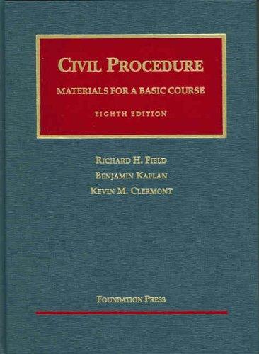 9781587785702: Civil Procedure: Materials for a Basic Course (University Casebook)