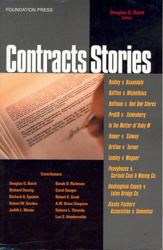 9781587787218: Contracts Stories- An In-Depth Look at The Leading Contract Cases (Law Stories)