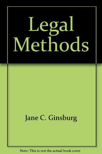 9781587787935: Legal Methods: Cases and Materials (University Casebook)