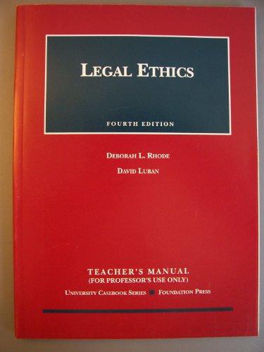 9781587788147: Legal Ethics (University Casebook)