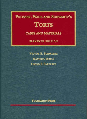 9781587788741: Cases and Materials on Torts (University Casebook Series)
