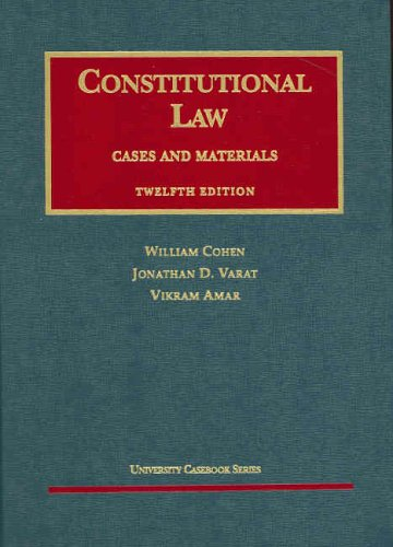 9781587788819: Constitutional Law (Cases and Materials) (University Casebooks)