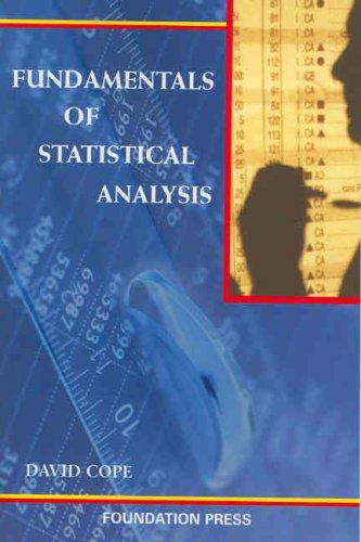 Fundamentals of Statistical Analysis: David Cope