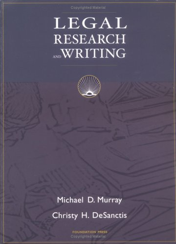 9781587788970: Legal Research And Writing