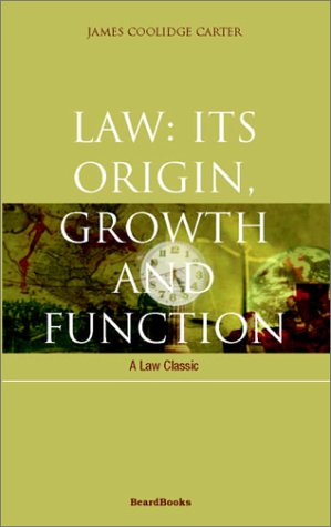 9781587980121: Law: Its Origin, Growth and Function (Law Classic)