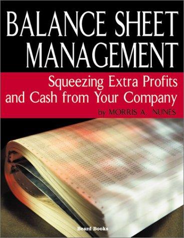 9781587981920: Balance Sheet Management