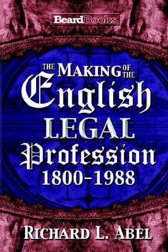 9781587982507: The Making of the English Legal Profession