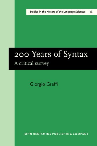 9781588110527: 200 Years of Syntax: A critical survey (Studies in the History of the Language Sciences)