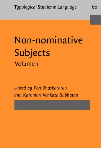9781588115317: Non-nominative Subjects: Volume 1 (Typological Studies in Language)