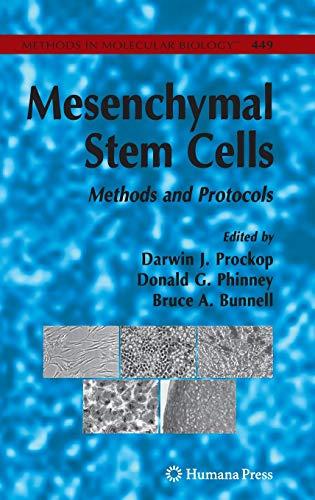 9781588297716: Mesenchymal Stem Cells: Methods and Protocols (Methods in Molecular Biology)