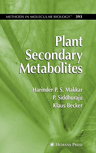 9781588299932: Plant Secondary Metabolites (Methods in Molecular Biology)