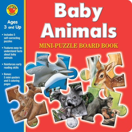 Baby Animals Mini-Puzzle Board Book [With Poster]: McGraw-Hill Publishing