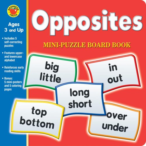 Opposites Mini-Puzzle Board Book [With Posters] (Brighter: n/a