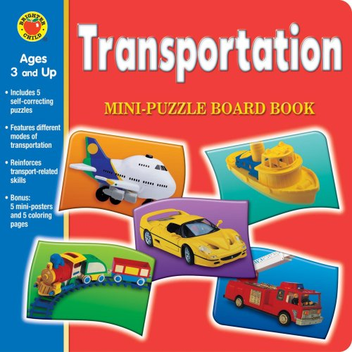 Transportation Mini-Puzzle Board Book [With Posters] (Brighter: McGraw-Hill Publishing