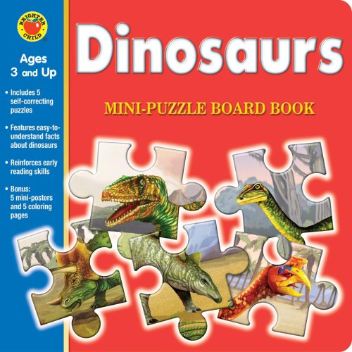 Dinosaurs Mini-Puzzle Book [With Poster] (Brighter Child (McGraw Hill Children's Publishing)):...