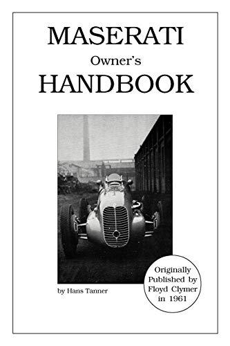 Maserati Owner s Handbook (Paperback): Hans Tanner