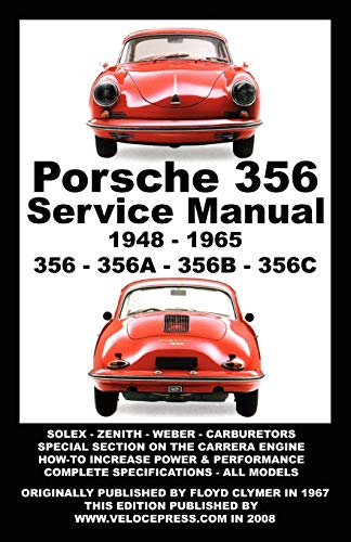 PORSCHE 356 OWNERS WORKSHOP MANUAL 1948-1965 (1588501000) by Clymer, Floyd