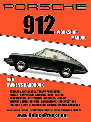 9781588501011: Porsche 912 Workshop Manual 1965-1968