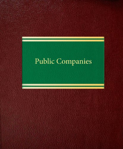 Public Companies (Corporate Securities Series): Jonathan M. Hoff/ Lawrence A. Larose/ Frank J. ...