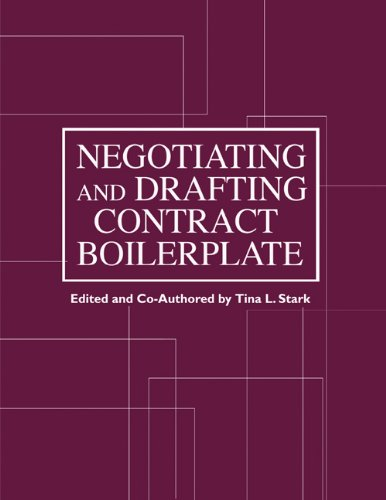 9781588521057: Negotiating and Drafting Contract Boilerplate