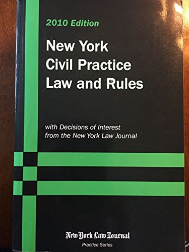 New York Civil Practice Law and Rules: