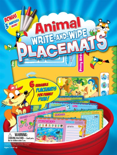 9781588657626: Animal Write-and-Wipe Placemats